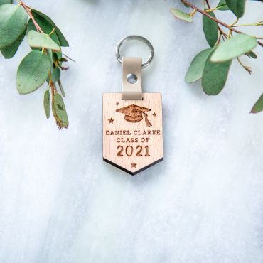 Class of 2021 Engraved Wooden Keyring