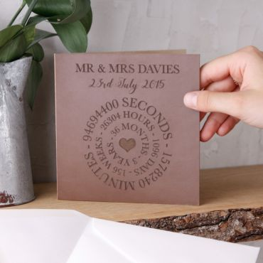 Leather (3rd) Anniversary Time Card