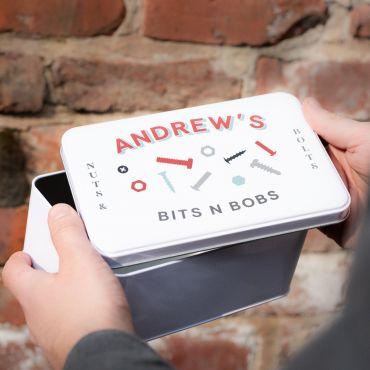 Personalised Bits & Bobs Storage Tin