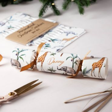 Tropical Animal Pattern Christmas Crackers