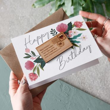 Mini Letter Birthday Keepsake Card