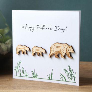 Grizzly Bear Family Keepsake Card