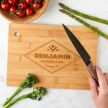 Personalised Engraved Kitchen King Chopping Board