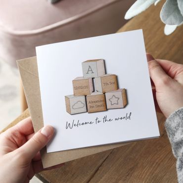 Building Blocks Baby Details Card