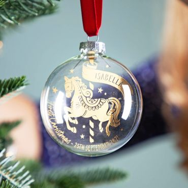 Carousel First Christmas Foiled Bauble