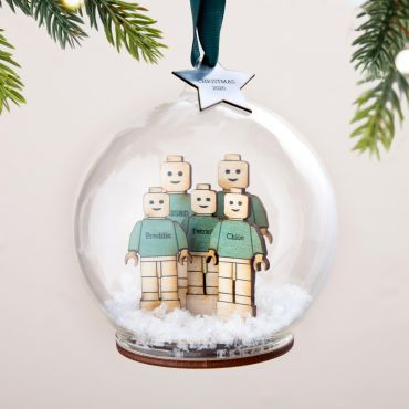 Personalised 3D Characters Family Bauble