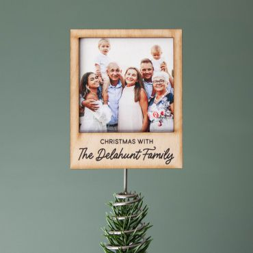 Personalised Photo Christmas Tree Topper