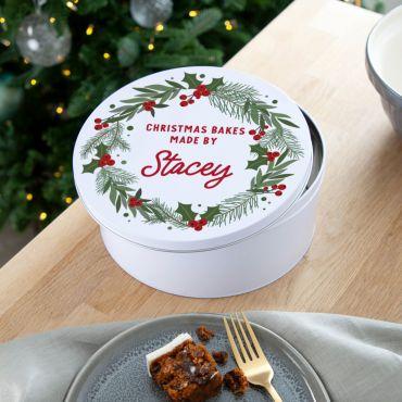 Christmas Wreath Cake Tin