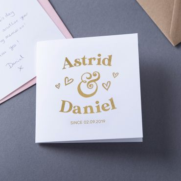 Couple's Foiled Names Valentine's Card