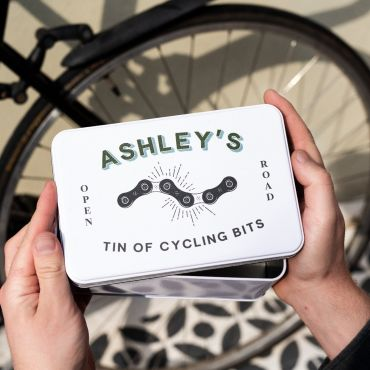 Personalised Cycling Bits Storage Tin