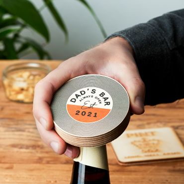 Personalised Wooden Record Bottle Opener