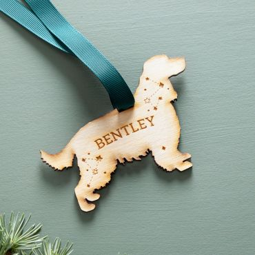 Dog Silhouette Wooden Hanging Decoration