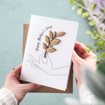 Personalised Family Tree Branch Card