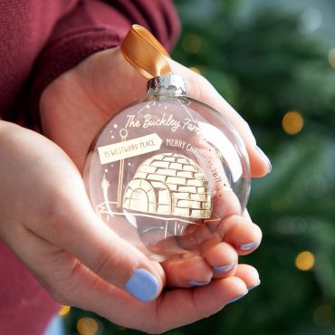 Igloo New Home Foiled Bauble