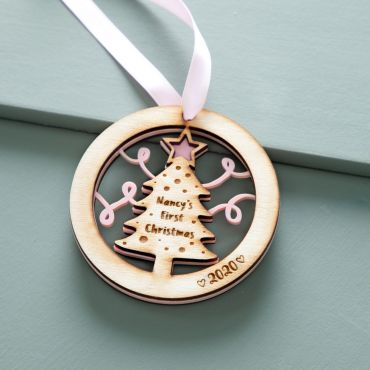 Personalised 1st Christmas Tree Hanging Decoration