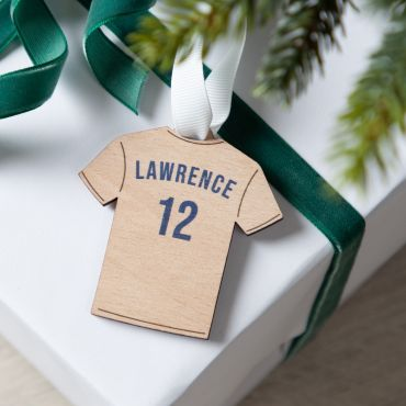 Personalised Football Shirt Christmas Decoration