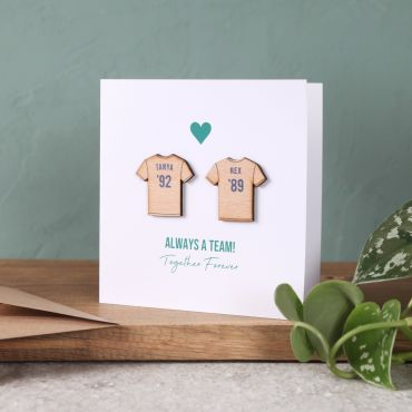 Football Couple's Keepsake Card