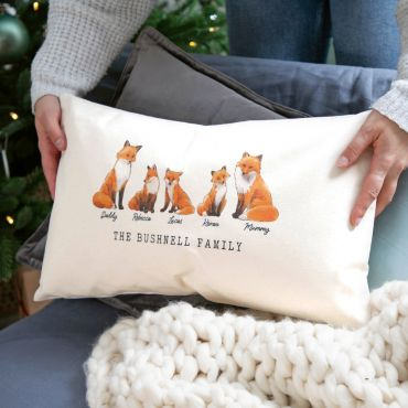 Family of Foxes Cushion
