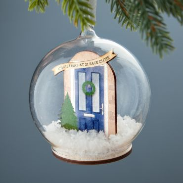 Personalised Front Door Bauble