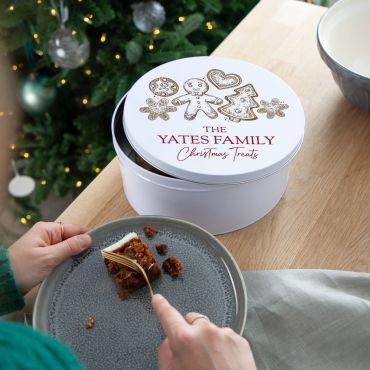 Gingerbread Cookies Christmas Cake Tin