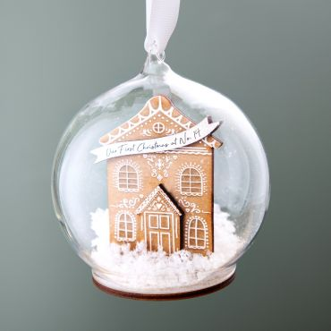 Gingerbread House New Home Bauble