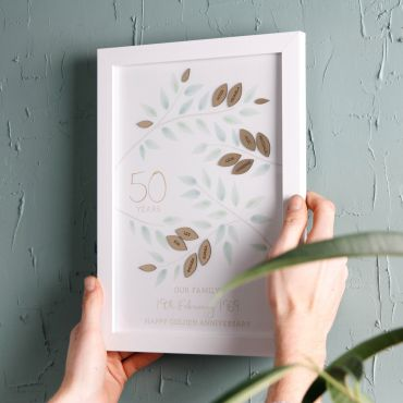 Golden Anniversary 3D Family Tree Print