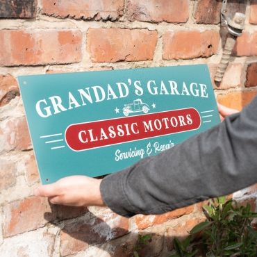 Classic Motors Metal Garage Sign