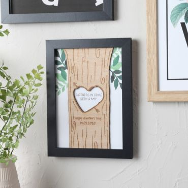 Heart & Arrow Engraved Print