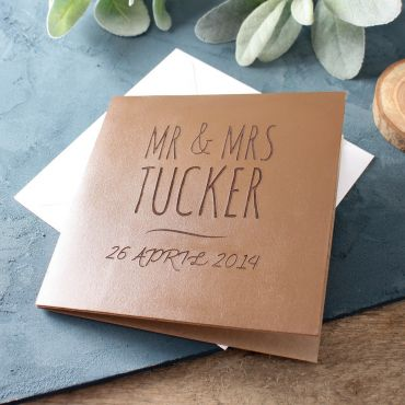 Leather (3rd) Anniversary Engraved Card