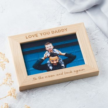 'Love You Daddy' Engraved Oak Photo Frame