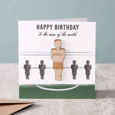 Man Of The Match Birthday Card