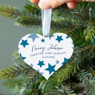 Starry Heart Memorial Christmas Decoration