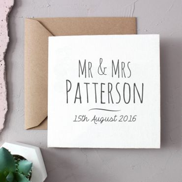 Cotton (2nd) Anniversary Printed Material Card