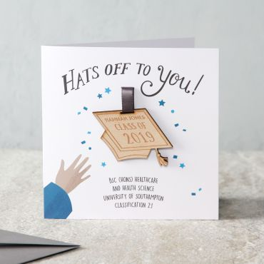 'Hats Off To You' Graduation Keepsake Card