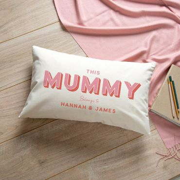 Pastel Typographic Cushion - Pink