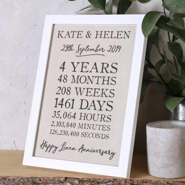 Linen Time Print (4th Anniversary)
