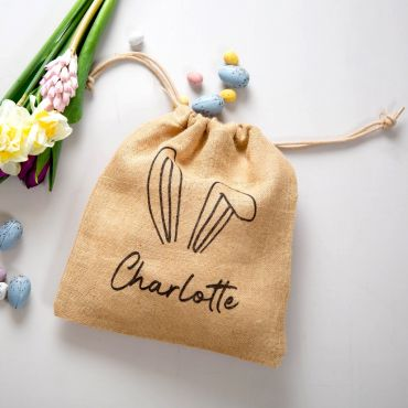 Personalised Bunny Ears Easter Treat Bag