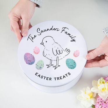 Personalised Easter Treats Cake Tin