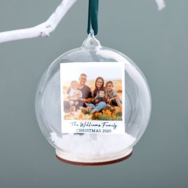 Family Photo Memory Bauble