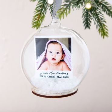 First Christmas Photo Memory Bauble