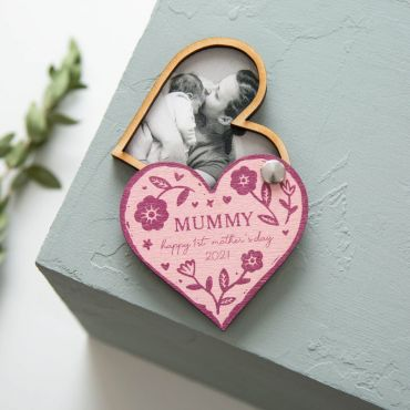 Heart Shaped Photo Magnet Keepsake