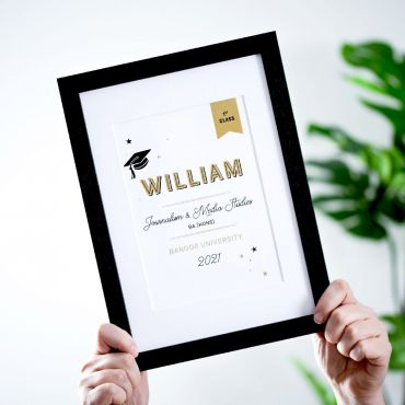 Large Name A5 Graduation Print