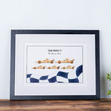 Personalised Family Race Car Print