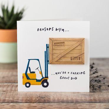 Personalised Fork Load of Reasons keepsake Card