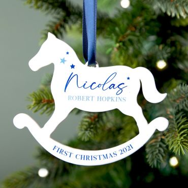 Rocking Horse First Christmas Decoration