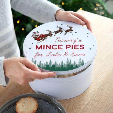 Santa's Sleigh Christmas Treats Tin