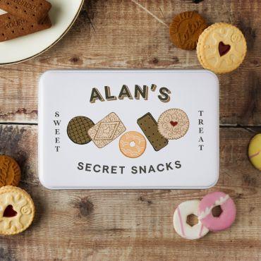 Personalised Secret Snacks Storage tin