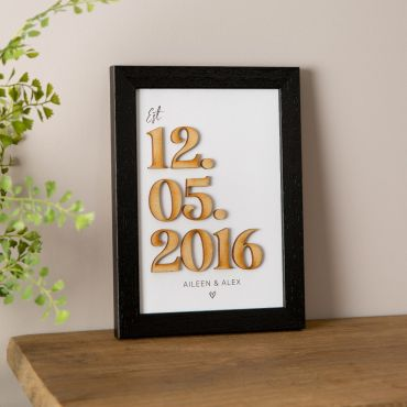 Wooden Numbers Special Date Print