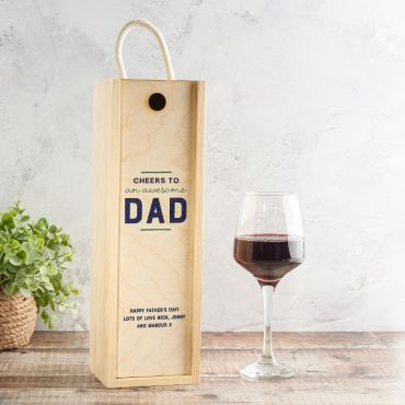 Cheers To... Personalised Wooden Bottle Box