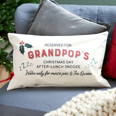 Personalised Christmas Snooze Spot Cushion